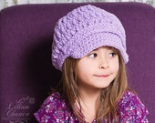 Toddler Girl Newsboy Hat 2T to 4T Lavender Newsboy Cap Toddler Hat Toddler Girl Hat Crochet Newsboy Light Purple Toddler Girl Clothes