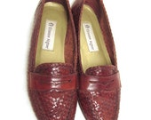 7.5 Vintage Woven Etienne Aigner Loafers