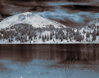 Mt. Lassen at Lake Helen: Digital Photograhpy, Digital Split Tone, ccoe team, National Parks, Fine Art, Mt Lassen, Decorating