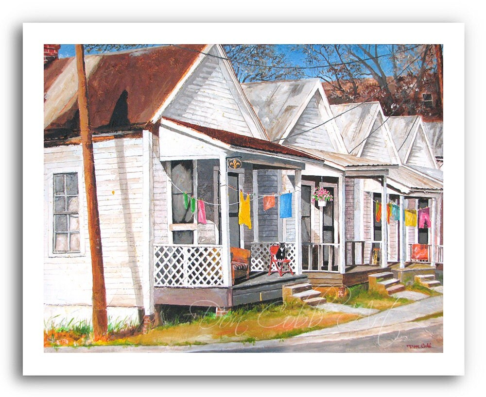 Shreveport La Shotgun House Art Shotgun Alley