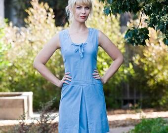 ADORABLE light blue CHAMBRAY mini dress size small/ medium