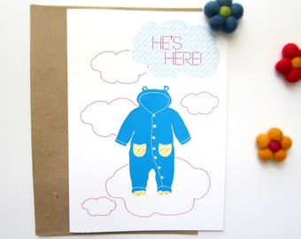 New Baby Congratulations, Birth Congratulation Card, New Born Baby Boy, Baby Greeting Cards