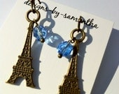 Brass PARIS Eiffel Tower Earrings