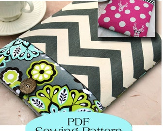 iPad Sleeve with Pocket Pattern , iPad Case Pattern, iPad Cover PDF Sewing Pattern Ebook Sewing Tutorial, INSTANT Download