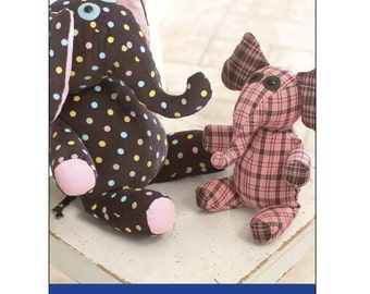 Eloise & Elmore Digital Sewing Pattern PDF - create two sizes of stuffed elephant
