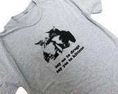 CAT Mens T-Shirt - Drug Free Kitten Mens Unisex Shirt - (Sizes S, M, L, XL)