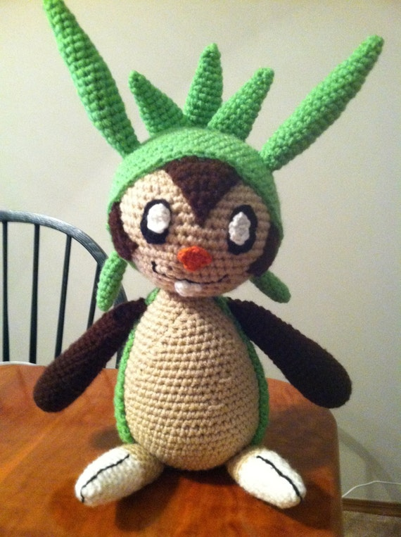 Chespin Inspired Pokemon Crochet Deluxe Plush Pattern PDF ON SALE!