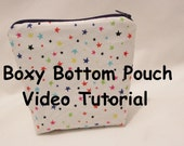 Boxy Bottom Zipper Pouch Tutorial