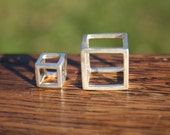 Small Sterling Silver Cube Pendant