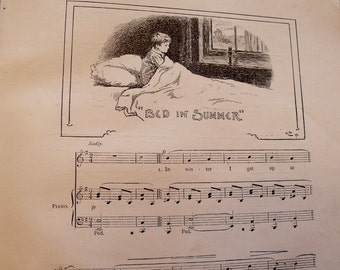 Song Flowers - 1897 -  R.L. Stevenson - from A Child's Garden of Verses with music and illustrations