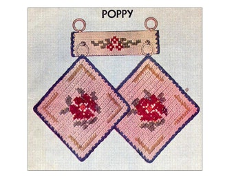 1950s Vintage 40 Hot Pot Holders and Other Gadgets Crochet Patterns Book Potholders, Glass Jackets, Coasters, Place Mats