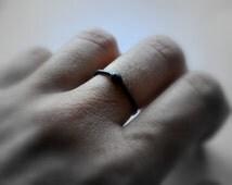 Black Asteroid Ring. Oxidized Sterling Silver. Modern Contemporary Simple Sleek Elegant Design. Jewellery. Jewelry. Oxidised.