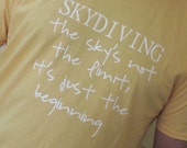 Men's Skydiving T Shirt - Sky's Not The Limit