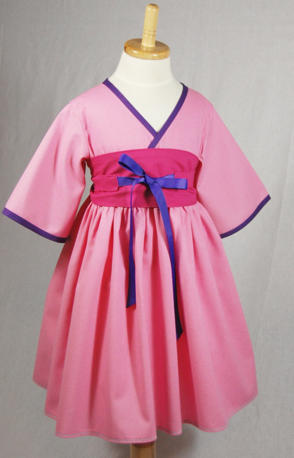 Pink Mulan Dress Little Girls Dresses Toddler Birthday
