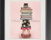 Read a Book - archival watercolor print by Tracy Lizotte