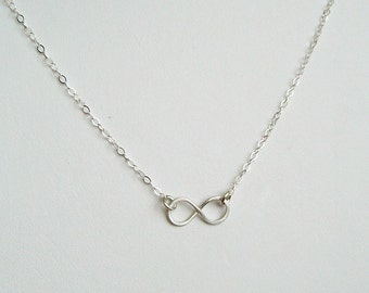 Infinity Necklace, Jewelry, Love, Sterling, Friends, Sisters, Mothers, Gift