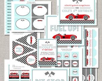 Printable Race Car Birthday Collection - DIY