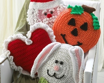 Holiday Pillows Crochet Pattern Set 1- Crochet on the Double PDF