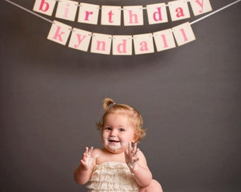 birthday banner decoration sign photoprop