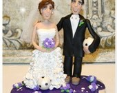 Soccer Wedding Cake Topper, Personalized