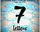 Modern String Art Wooden Name Tablet - 7 letters