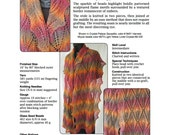PDF pattern Flames of Fall beaded lace stole