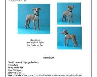 Needle Felted Dog Tutorial -- English language