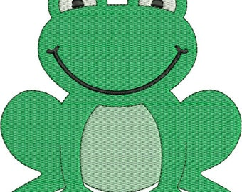 Cute Frog Machine Embroidery Designs 4x4 & 5x7 Instant Download Sale