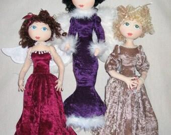 e-Pattern -  A Host of Angels - gorgeous stump dolls
