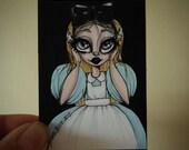 Surprised Alice Original  ACEO illustration