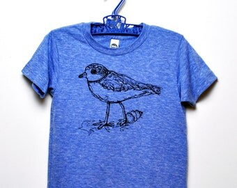 Piping Plover Toddler Tee- Blue-  8Y