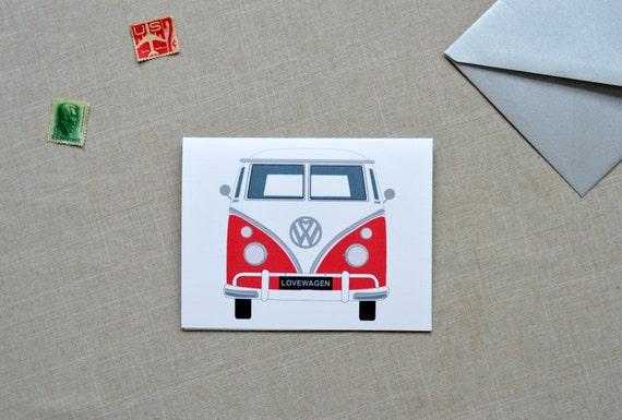 volkswagen valentine's day card, retro valentine, valentine card for man, volkswagen, volkswagen valentine card, valentines card for him
