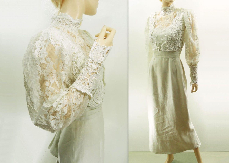 Victorian Wedding 80s Vintage Dress Jessica by StarletVintage