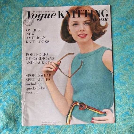 Vogue Dictionary Knitting Stitches : Reduced Price Vogue Knitting Book Spring Summer 1961 by taffnie