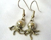 Miniature Silver Octopus Earrings