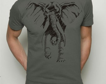 Mens tshirt - Elephant Mens / Father's day gift, American Apparel t shirt / mens fashion / gift for him