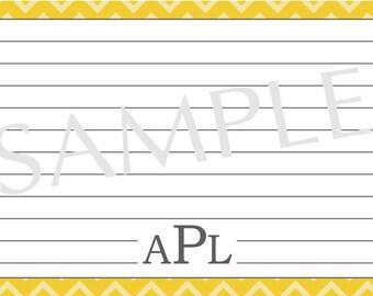 Custom Recipe card Chevron-PDF only