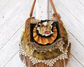 RESERVED for Tammy Carpet Bag with Leather Fringe By Stacy Leigh Ready to Ship