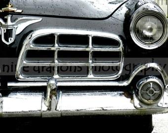 Classic Car Art, Vintage Car Print, Black Car Art for Dad, Car Photography Black White, Chrysler Classic Car Print, Muscle Car Wall Art