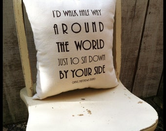 Steady As We Go- Dave Matthews Band, Customizable Lyric Pillow
