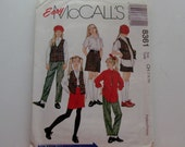 McCall's 8361 Girl's Size 7 to 10 Vest, Shirt, Pants, and Skirt Pattern UNCUT