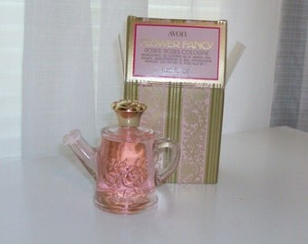 NEW Flower Fancy Roses, Roses Cologne and Decanter by Avon