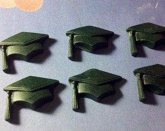 Edible Fondant Graduation Caps-Graduation Cake/Cupcake Toppers-Set of 12