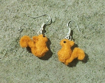 Squirrel Earrings - red squirrel earrings - squirrel jewelry - squirrel jewellery - cute fall earrings animal earrings fall bridesmaid gift