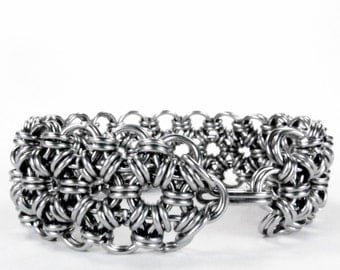 Chainmaille Bracelet - Stainless Steel - Japanese Pattern