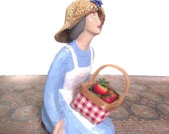 Doorstop Summer Door stop Tomato  Vendor Gardener Country Folk Look