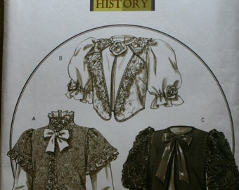 Butterick B4952 History Retired Victorian Jacket Sewing Pattern New/Uncut Size Misses 6-8-10-12