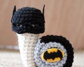 Superhero snails - Batsnail crochet amigurumi