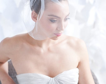 Tulle birdcage veil, bridal veil, wedding veil - ready to ship - FREE SHIPPING*
