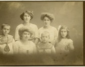 1880s Sailor Boys with Pretty Sisters - cabinet card 961